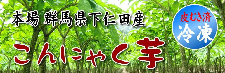 群馬県産こんにゃく芋(皮むき済み冷凍)