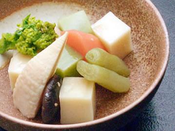 添付のわさび醤油や酢味噌